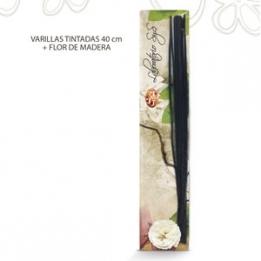 BOLSA Decoración Bucaros c/flor Madera